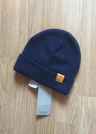 Фирменная шапка, шапочка для мальчика mango, размер s, 1-2 года