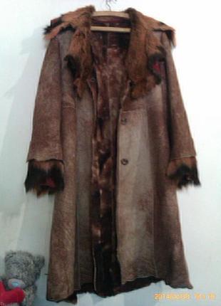 Пальто дублёнка шуба натуральная