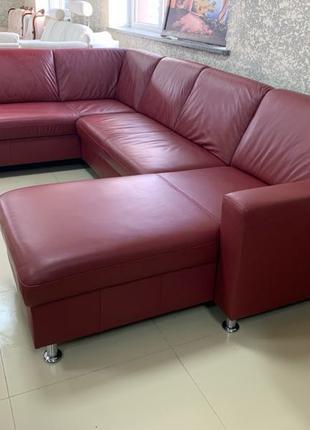 П образний шкіряний диван кожаный диван угловой мягкая часть