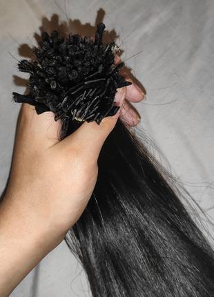 Натуральные волосы для наращивания 60см