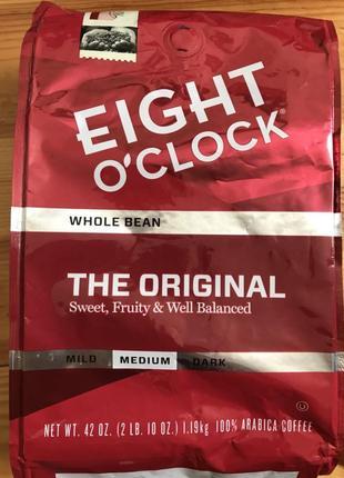 """Кофе сша Eight O'clock """"original"""" 1,19кг зерновой, кава америки"""