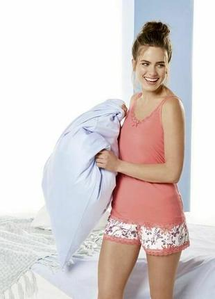 Летний комплект, женская пижама с кружевом, домашний костюм es...