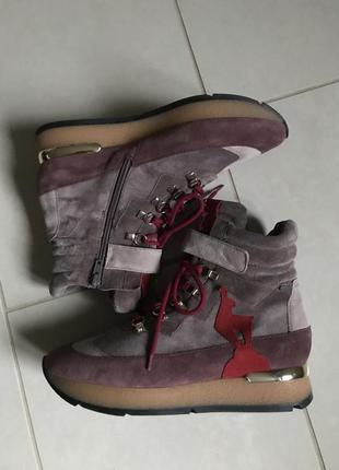 Ботинки кожаные сникерсы зимние стильные hogl размер 39
