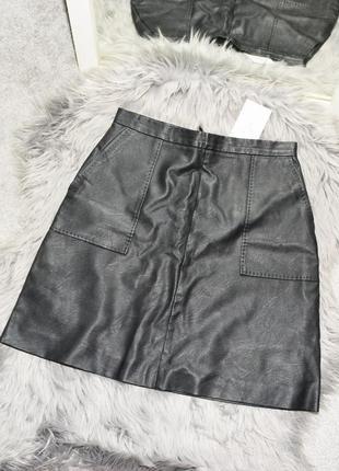 Новая юбка из эко-кожи с карманами oasis (с сайта asos)