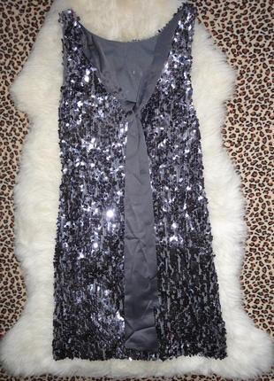 Шик! нарядное платье new look паетки р.10   (ог 90,дл.80 б.92-...