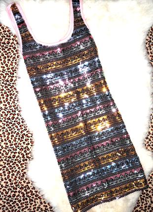 Шик! нарядное платье miss selfuidige паетки р.12   (ог 72-90,д...