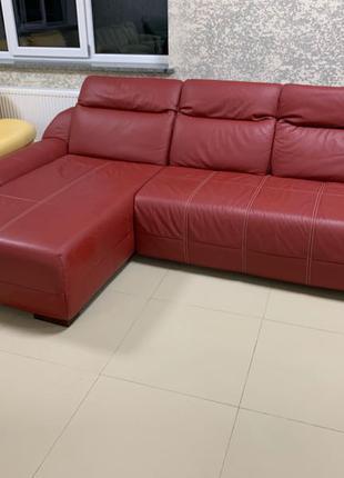 Шкіряний кутовий диван, угловой диван кожаный мягка частина