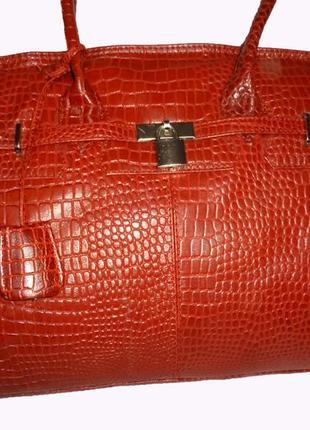 Шикарная большая сумка натуральная кожа bergamo