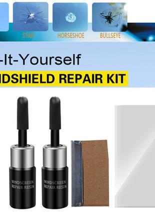 НАБОР 3 шт Клей полимер жидкость для ремонта лобового стекла окон