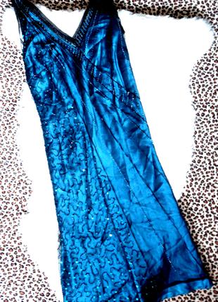 Шик! изумрудное платье next р.12   (ог 96,дл.105)