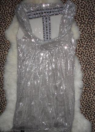 Шик! нарядное платье паетки alexandra burke р.14   (ог 100,дл.85)