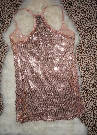 Шик! нарядное платье паетки e-vie р.10-12   (ог 92,дл.78) брак