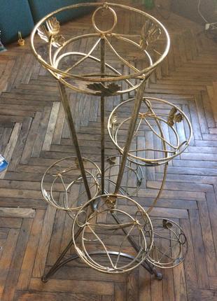 Напольная подставка для цветов Башня спираль 6