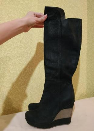 Baldinini сапоги, высокие сапоги, ботфорты, чоботи, натуральна...