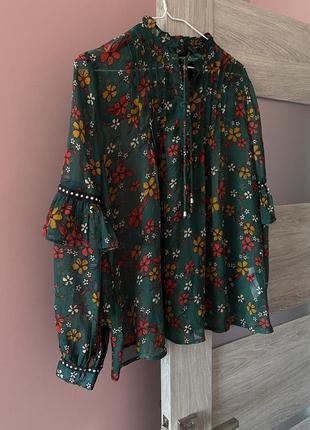 Легкая блуза в цветы