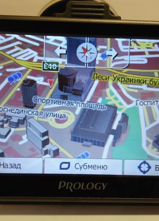 GPS навигатор Prology с полным пакетом свежих карт!