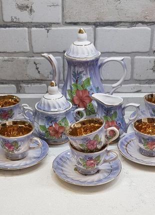 Сервиз кофейный, чайный на 6 персон