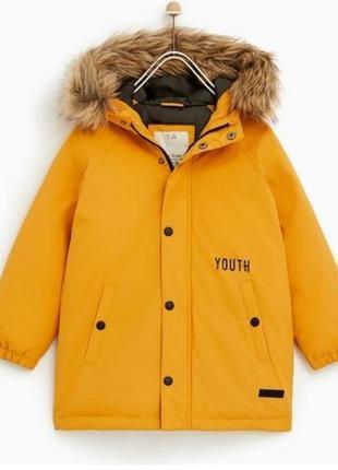 В наличии удлиненная куртка zara 164