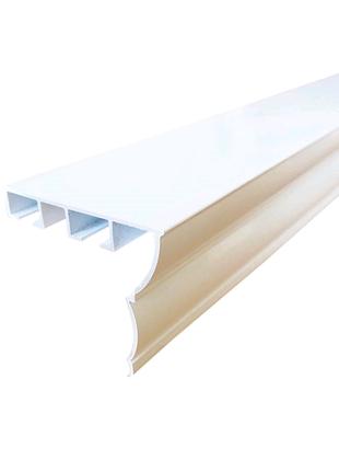Карниз алюмінієвий Алютерра Дворядний 400см Білий