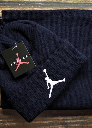Брендовые комплекты Jordan (шапка + бафф )