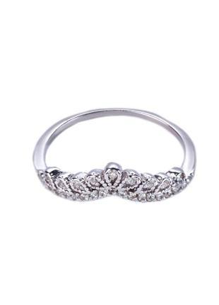 "Серебряное кольцо ""диадема"""