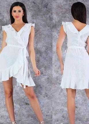 Шикарное летнее белое платье, сарафан из прошвы poliit