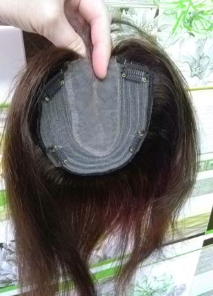 Накладка(топпер,шиньон) из натуральных волос