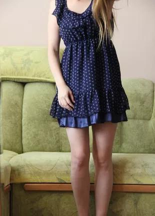 Легкое платье красивого синего цвета