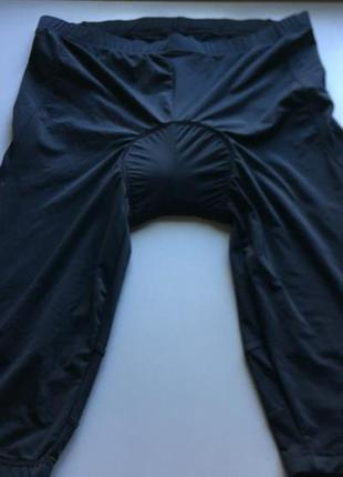 🔥скидка 🔥вело шорты бриджи капри чёрные мужские с памперсом cr...