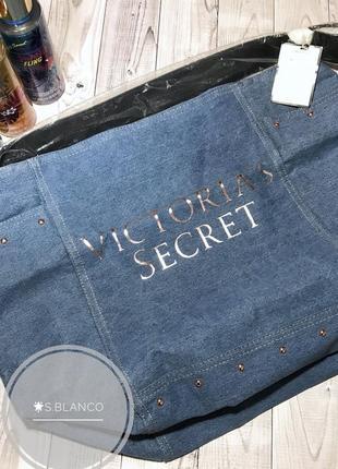 Сумка джинсовая, пляжная от victoria's secret