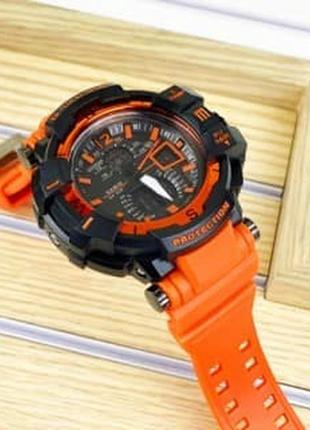 Мужские наручные часы/мужские часы/дорогие часы/оранжевые часы