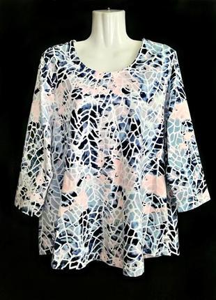 Распродажа! мягкая блузка из качественного хлопка с мраморным ...