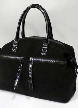 Сумка, сумка женская, натуральная замша, замша