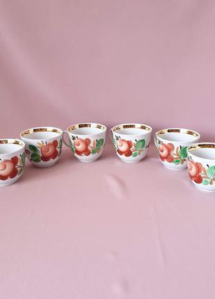 Изысканные чайные чашки барановка розы ссср