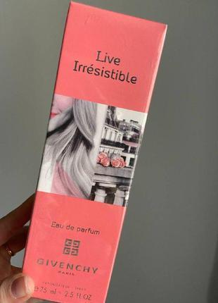 Парфюмированная вода live irresistible eau de parfum 75 мл