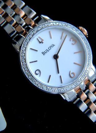 Бриллианты! шикарные часы с натуральными бриллиантами bulova.