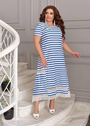 Платье свободного кроя в морском стиле