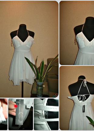 Акция !!! новое платье с бирками в белом цвете
