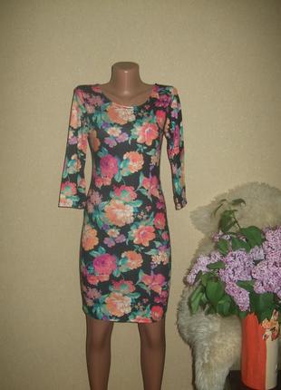 Трикотажное платье в цветы atmosphere