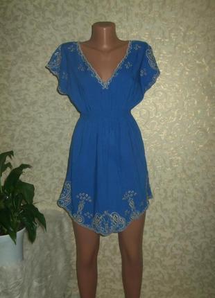 Платье туника с вышивкой