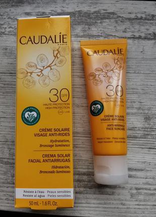 Крем солнцезащитный для лица spf50 caudalie anti-wrinkle face ...
