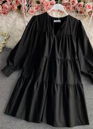 Платье свободного стиля. 2 цвета.