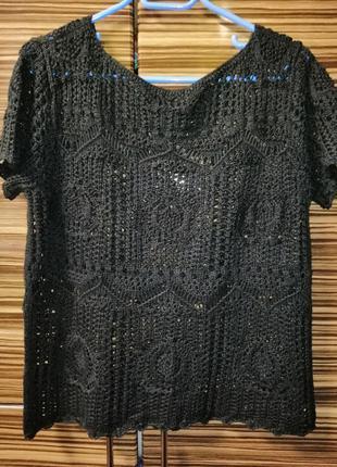 Пуловер свитер с коротким рукавом