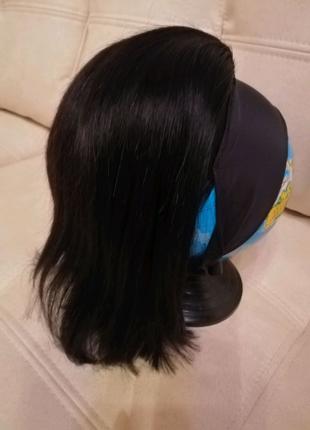 Парик из натуральных волос Натуральный парик с повязкой