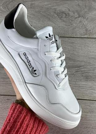 Белые кожаные мужские кроссовки р.42-45 наложенный платеж