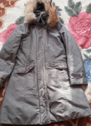 Куртка парка с натуральным мехом