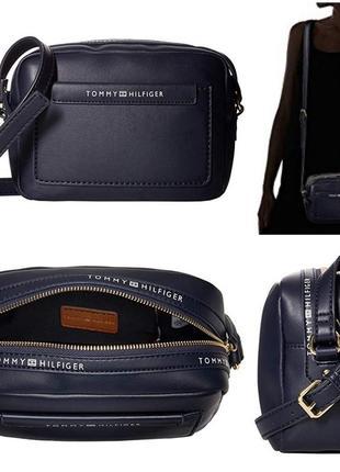 Оригинал сумочка кроссбоди tommy hilfiger сумка темно-синяя
