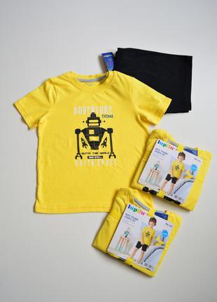 Пижама (летний костюм футболка и шорты), бренд lupilu