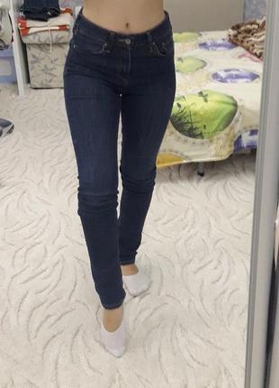 Темно-синие джинсы h&m