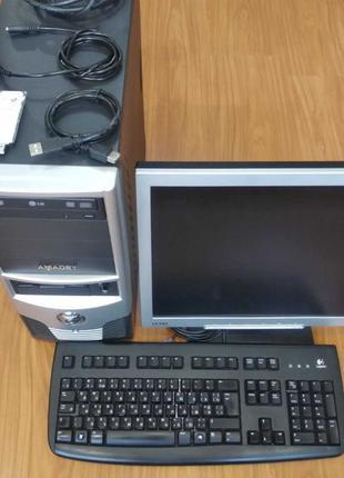 ПК, КОМПЬЮТЕР, системный блок, монитор, клавиатура, вай-фай, к...